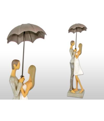 H.Figurka Para zakochanych pod parasololem