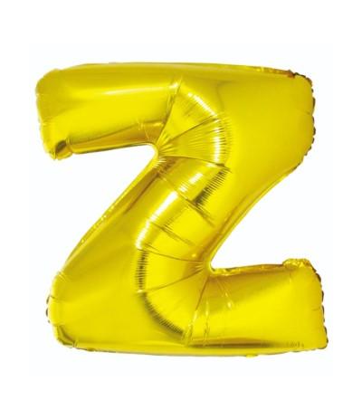 G.Balon foliowy litera 85cm złota  Z