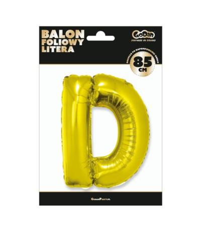 G.Balon foliowy litera 85cm złota D