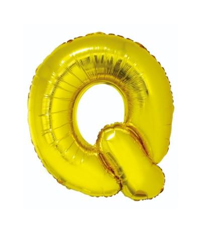 G.Balon foliowy litera 85cm złota Q