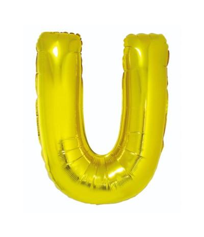 G.Balon foliowy litera 85cm złota U