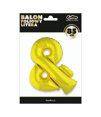G.Balon foliowy litera 85cm złota &