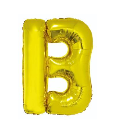 G.Balon foliowy litera 85cm złota  B