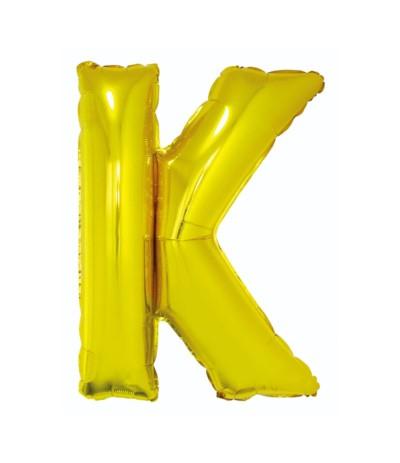 G.Balon foliowy litera 85cm złota  K