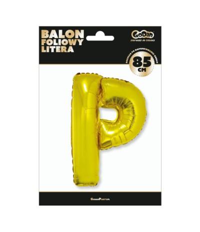 G.Balon foliowy litera 85cm złota P