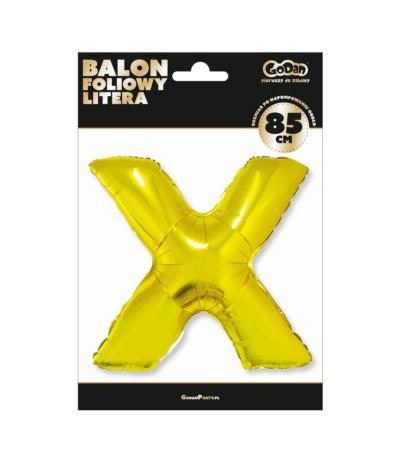 G.Balon foliowy litera 85cm złota  X