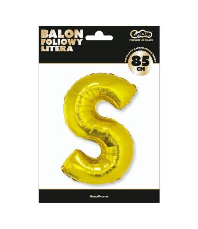 G.Balon foliowy litera 85cm złota S