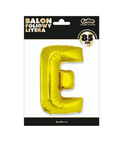 G.Balon foliowy litera 85cm złota E