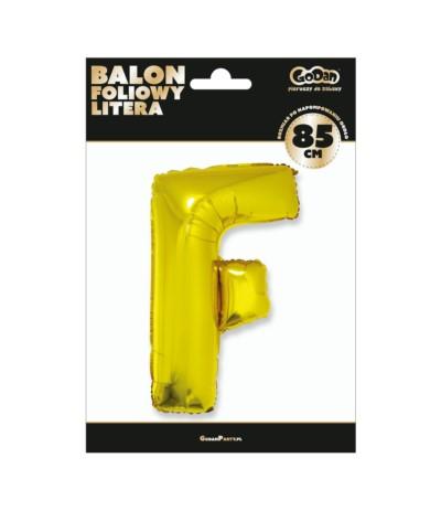 G.Balon foliowy litera 85cm złota F