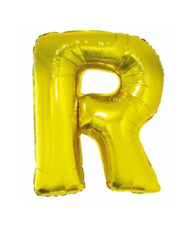 G.Balon foliowy litera 85cm złota R