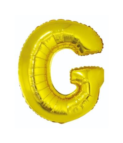 G.Balon foliowy litera 85cm złota G