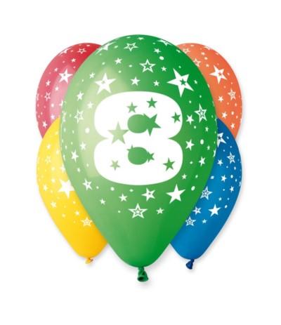 G.Balon z nadrukiem 5szt 8