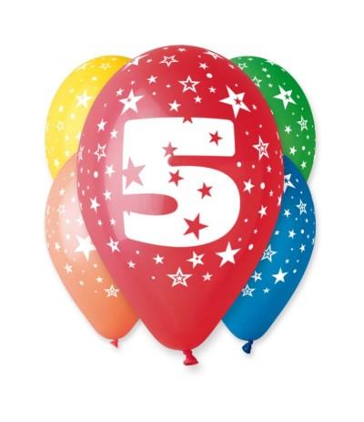 G.Balon z nadrukiem 5szt 5