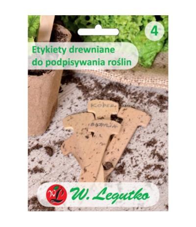 L.Etykiety drewniane do podpisywania roślin 5szt