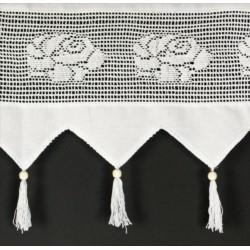 I.Firanka tkanina+ koronka 150/60 krem