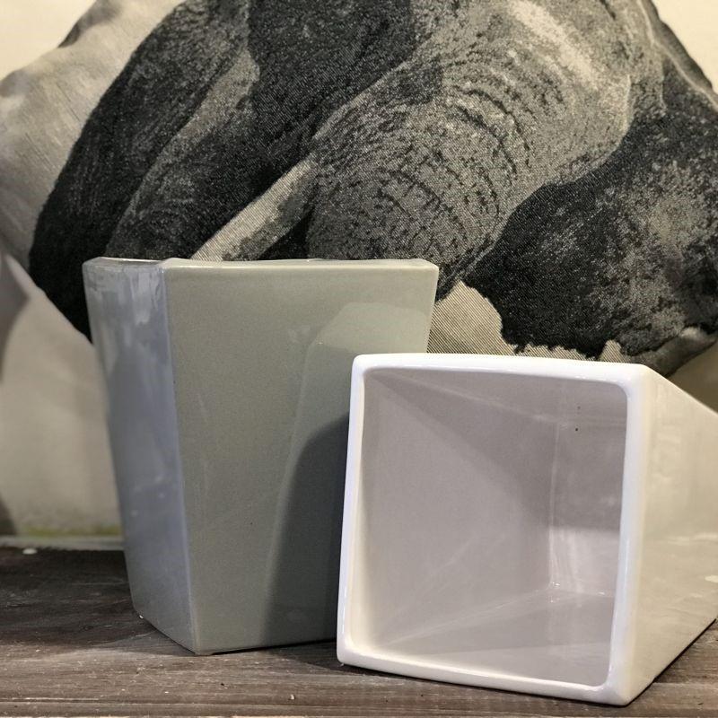 Osłonka ceramiczna Kamil h-23 szara