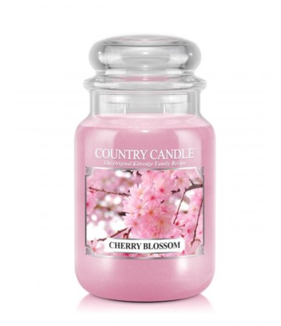 Country Świeca w szkle 652g Cherry Blossom
