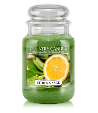 Country Świeca w szkle 652g Citrus and Sage