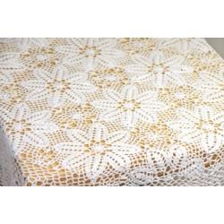 I.Kwiat- szydełko obrus 150/150 biały
