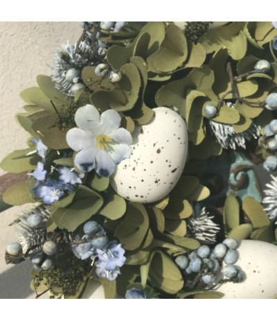 Wianek niebieski z jajkami