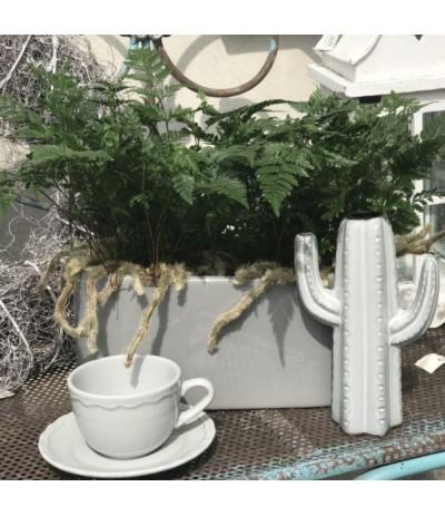 Osłonka ceramiczna Ogródek h-13 d-32 szara
