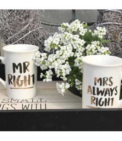 L.Kpl 2 kubków Mr Right&....