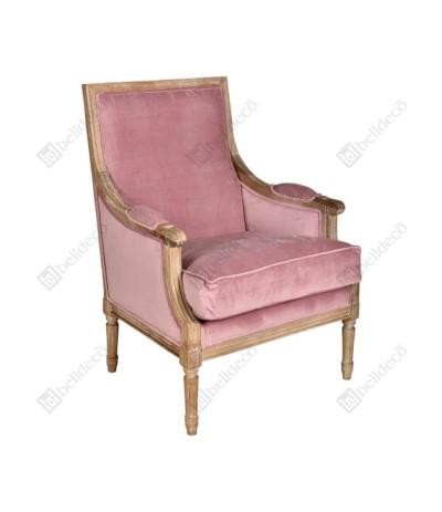 Classic Fotel prosty róż 1