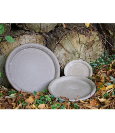 C.Podstawka ceramiczna 36cm szara