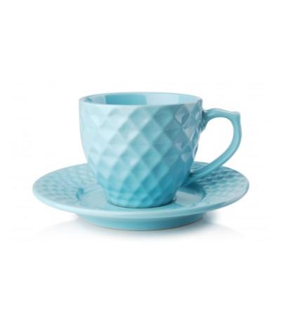 M.Diamond Blue Filiżanka 200ml+ spodek