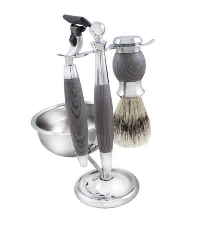 H.Zestaw do golenia na stojaku z miską