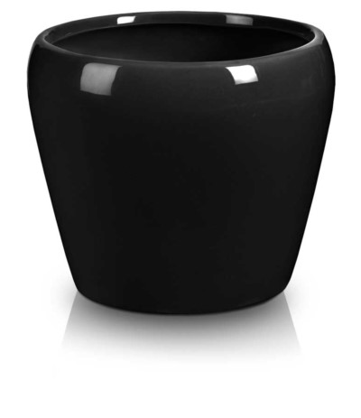 P.Doniczka ceramiczna czarna