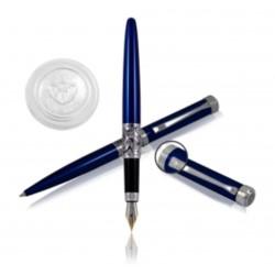 H.Regal Pióro+ długopis Charles blue  w etui