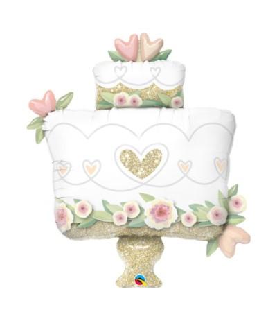 G.Balon foliowy 104cmcm Złoty wedding cake