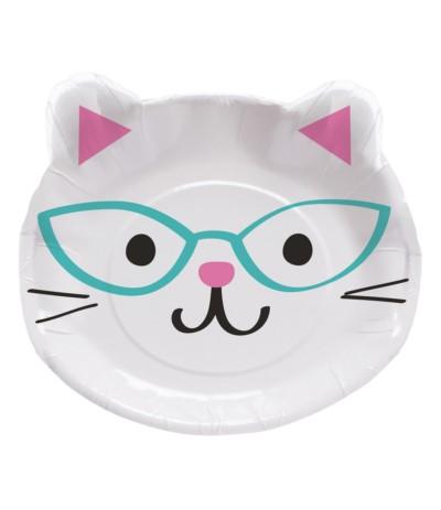 G.Talerze papierowe kotki 8szt