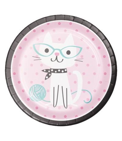 G.Wesołe kotki talerze papierowe 8szt