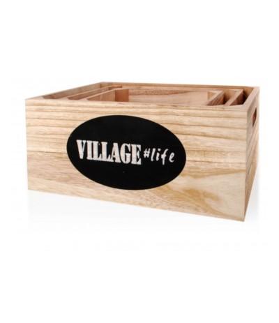 M.Skrzynka drewno Village