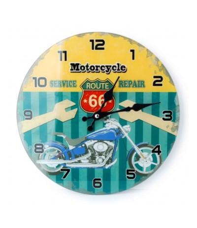 M.Zegar szklany 30cm Motocykle
