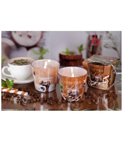 B.Świeca zapachowa w szkle 115g Coffee Cappuccino