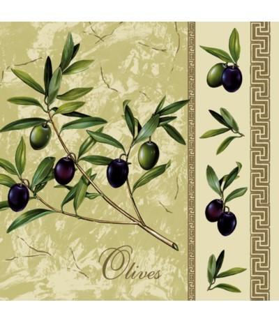 Maki Serwetki papierowe 33/33 oliwki