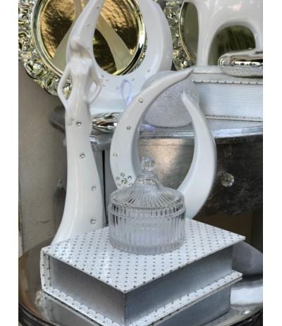 Ald.Wazon ceramiczny z cyrkoniami