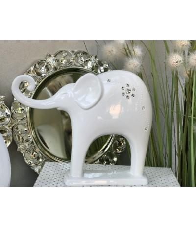 Adm Słoń ceramiczny z cyrkoniami
