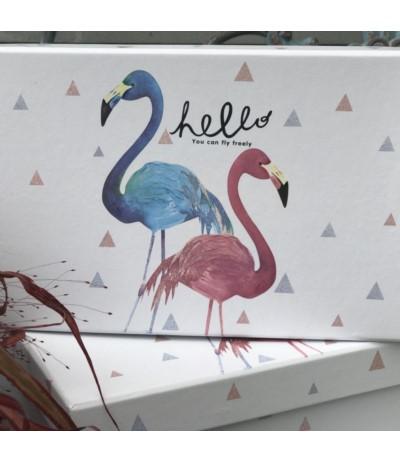 Pudełko ozdobne flamingi