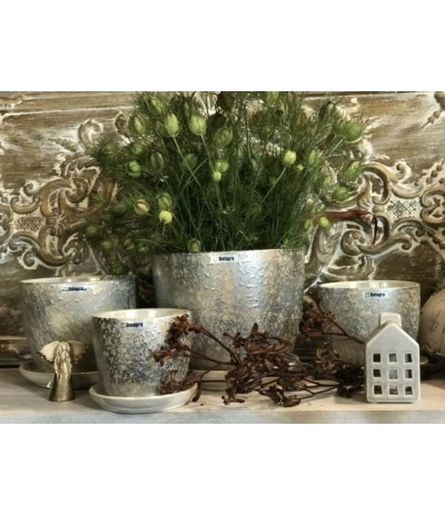 Dol Donica ceramiczna kremowo-złota