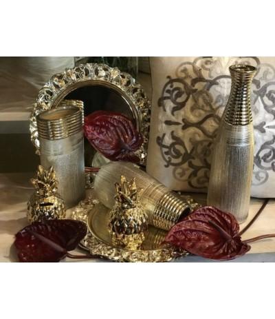 Wazon ceramiczny złoty