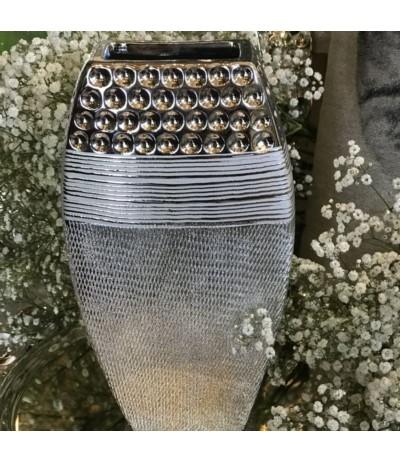 Wazon ceramiczny srebrny