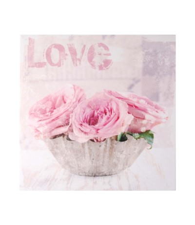 M.Obraz 40/40/1,5cm Kwiaty różowe