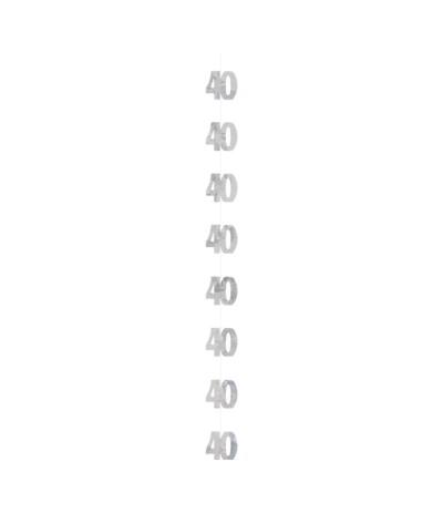 G.Dekoracja wisząca 40 srebrna