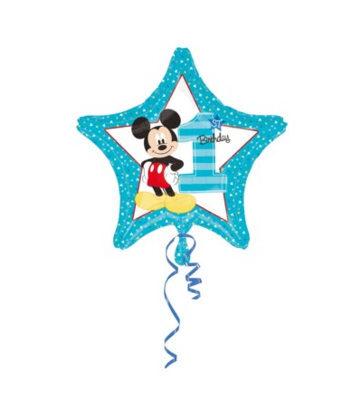 G.Balon foliowy 18 Mickey 1 st Birthday gwiazda
