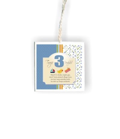 """D.Tabliczka kwadrat """"3 urodzinki"""