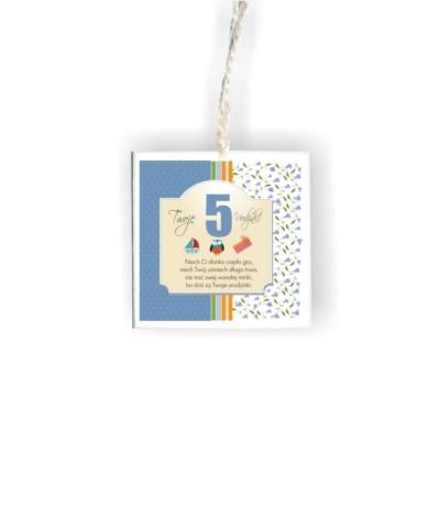 """D.Tabliczka kwadrat """"5 urodzinki nieb"""